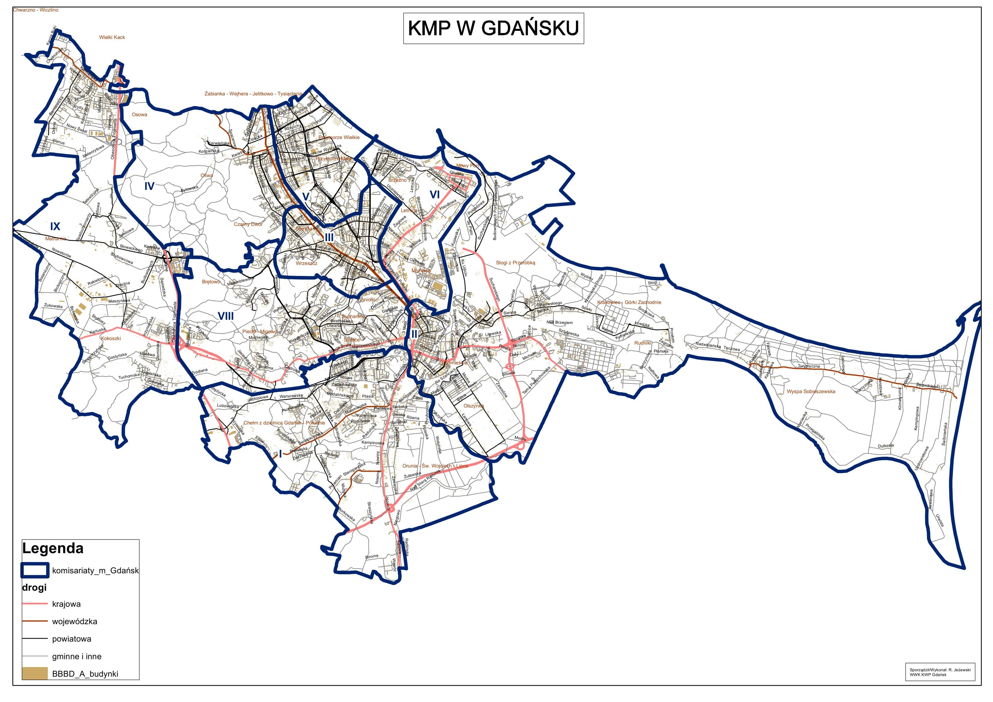 Mapa Podzial Komisariatow Mapa Podzial Komisariatow
